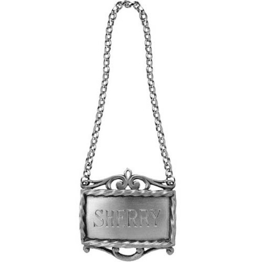 Salisbury Pewter Sherry Decanter Label - Available from SilverGallery.com