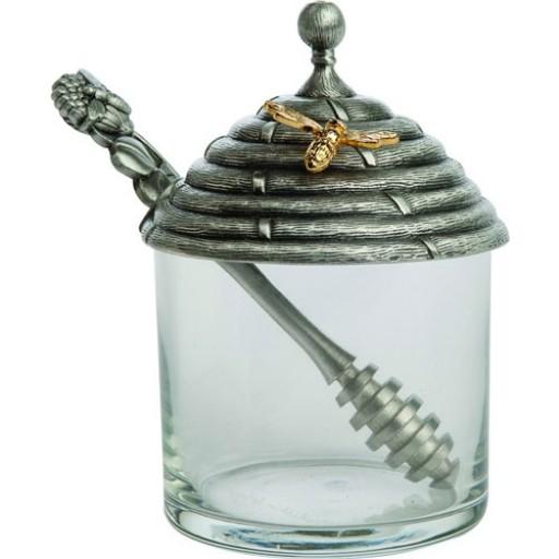 Salisbury Pewter Honey Pot w/Stirrer
