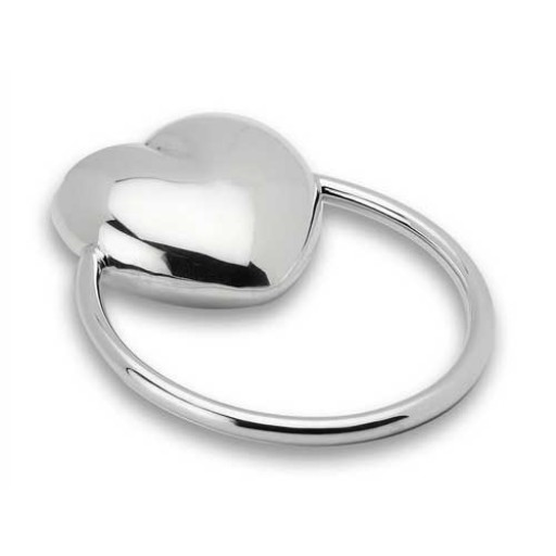Cunill Sterling Silver Heart Ring Rattle