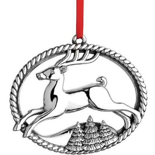 Reed & Barton Williamsburg Annual Ornament 2015 - North Pole Bound - Available from SilverGallery.com