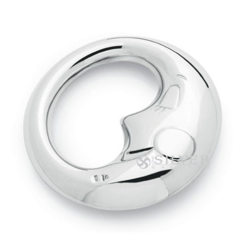 Cunill Sterling Silver Moon Baby Rattle
