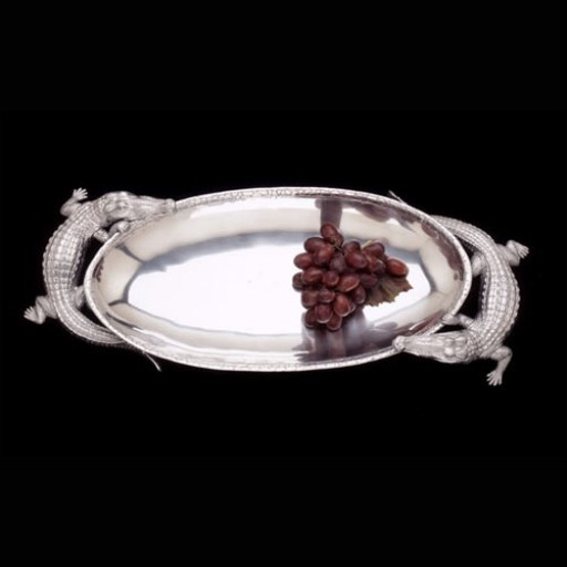 Arthur Court Alligator Centerpiece Tray