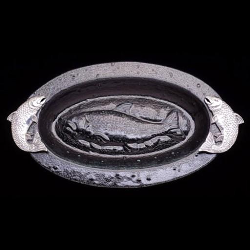Arthur Court Salmon Glass Platter