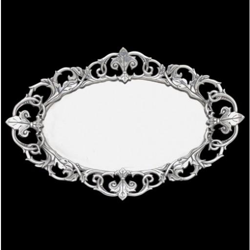 Arthur Court Fleur-De-Lis Oval Serving Tray