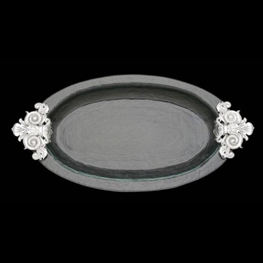 Arthur Court Fleur de Lis Glass Platter