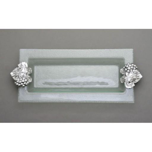 Arthur Court Grape Glass Oblong Tray