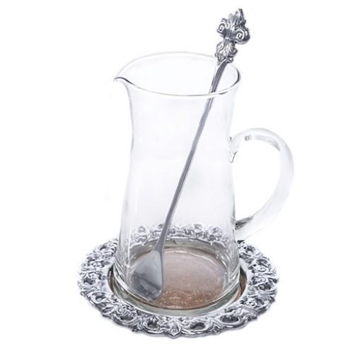 Arthur Court Fleur De Lis Beverage Pitcher Set