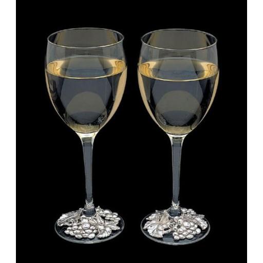 Arthur Court Grape Wreath Wine Glass