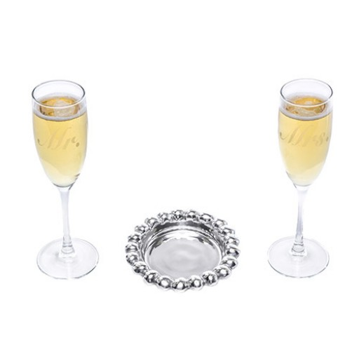 Arthur Court Special Occasion Mr. & Mrs. 3-Piece Champagne Set