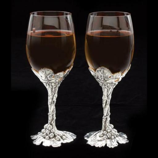 Arthur Court Grape Wine Glass Set of 2