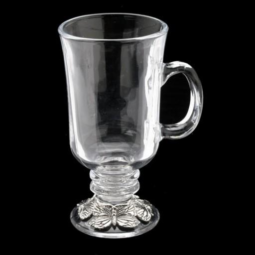 Arthur Court Butterfly Glass Beverage Mug