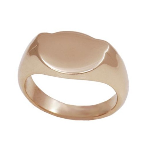 Yellow Gold Baby Initial Ring - Size 2