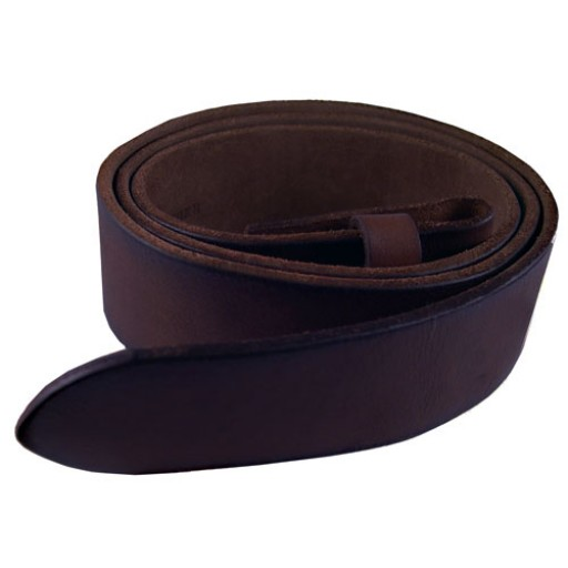 "Brown Leather Belt Strap - 36"" L"