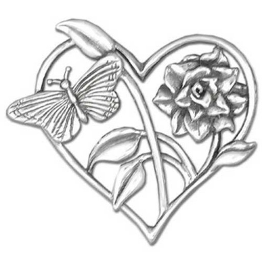 Butterfly Amp Rose Brooch