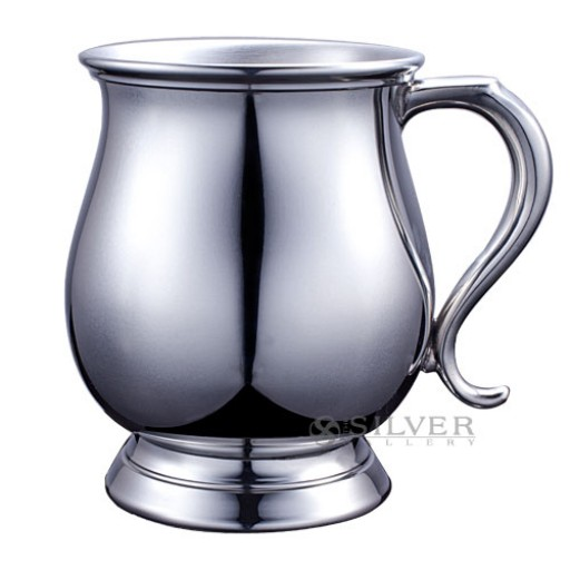 Boardman Reproduction Revere Tankards in Pewter and Sterling Silver