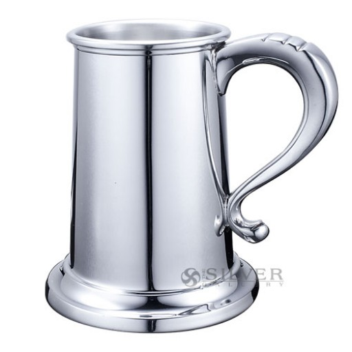 Boardman Sterling Glass Bottom Tankard - 16 Oz