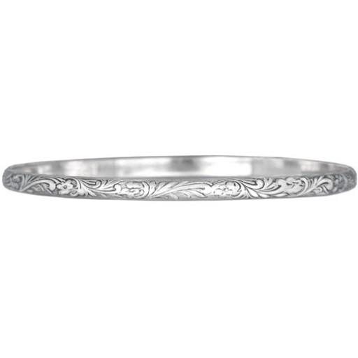Engraved Wire Bracelet