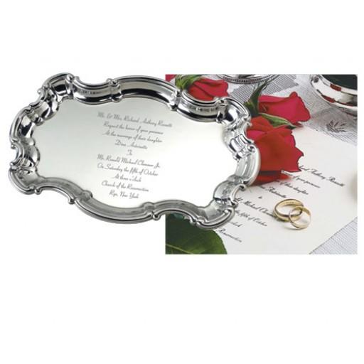 Salisbury Sterling Silver Wedding Invitation Tray