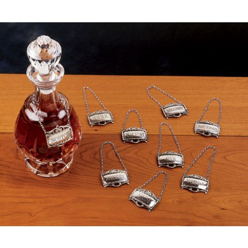 salisbury pewter decanter labels
