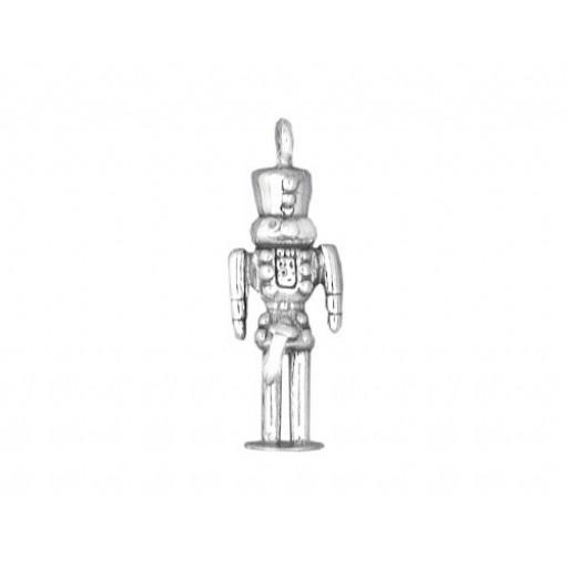 Sterling Silver Nutcracker Charm