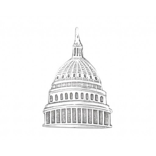 Sterling Silver Capitol Dome Charm