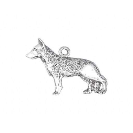 Sterling Silver German Shepherd Charm