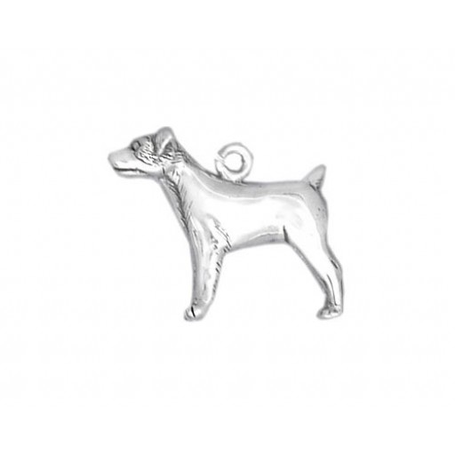 Sterling Silver Jack Russel Charm