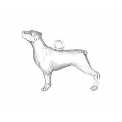 Sterling Silver Rottweiler Charm