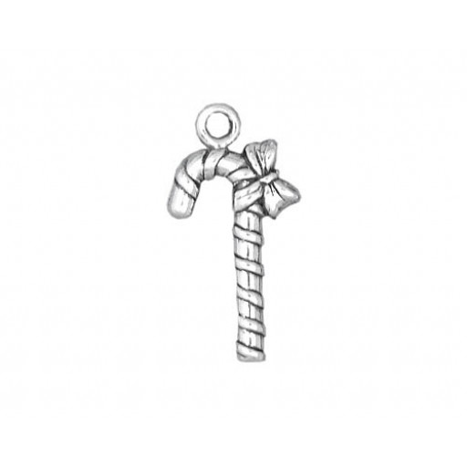 Sterling Silver Candy Cane Charm