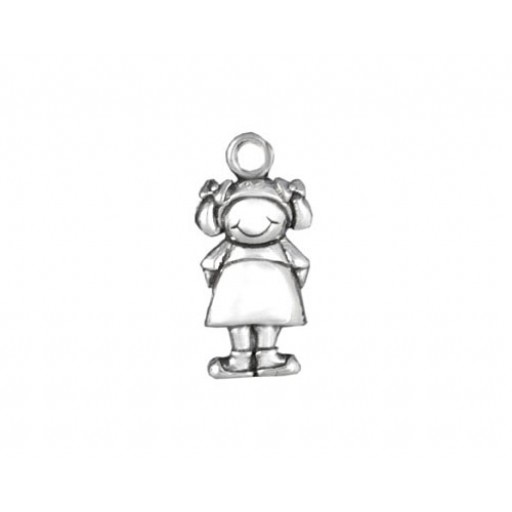 Sterling Silver Little Girl Charm