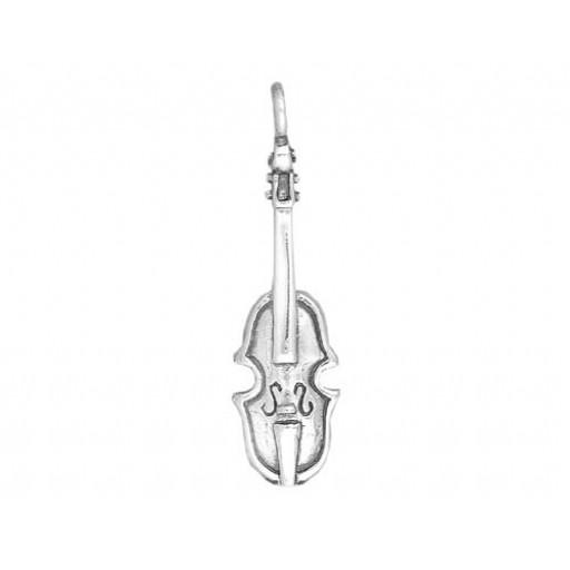 Sterling Silver Violin Charm