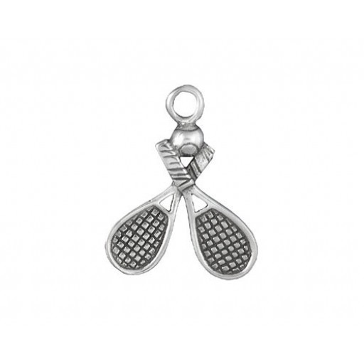 Sterling Silver Tennis Rackets Charm
