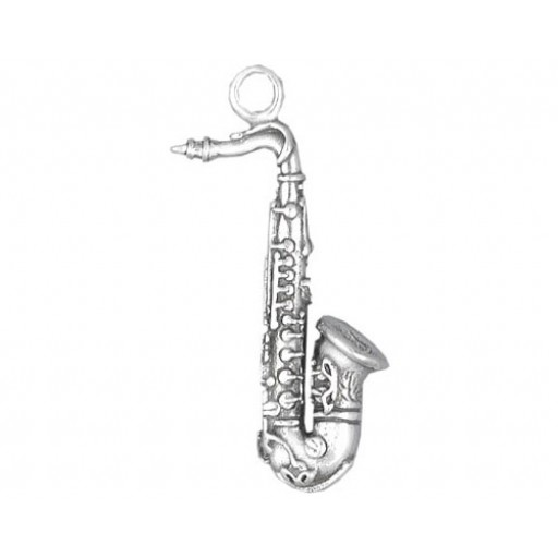 Sterling Silver Saxophone Charm