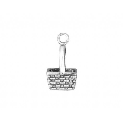 Sterling Silver Square Basket Charm