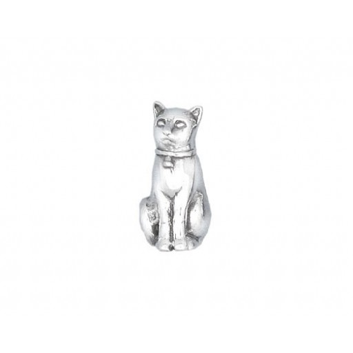 Sterling Silver Seated Cat Charm