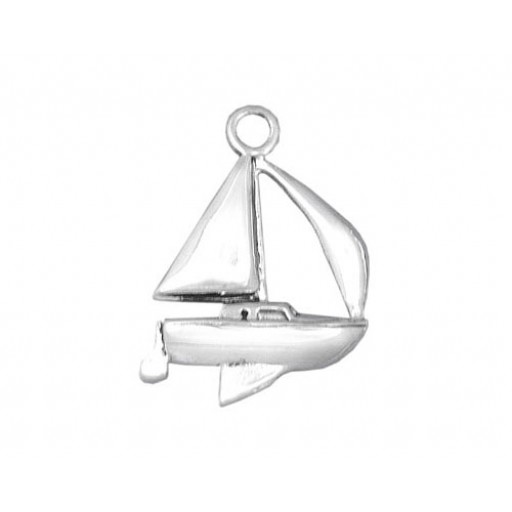 Sterling Silver Sailboat Charm