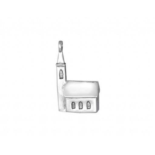 Sterling Silver Church Charm