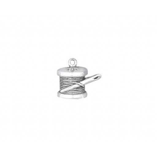 Sterling Silver Needle & Thread Charm