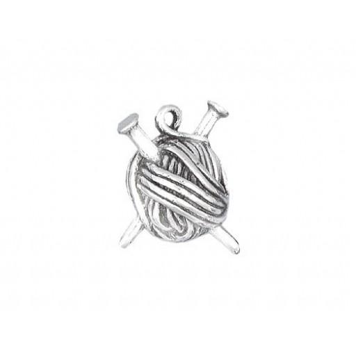 Sterling Silver Ball Of Yarn Charm