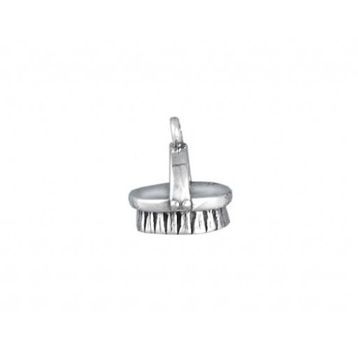 Sterling Silver Brush Charm