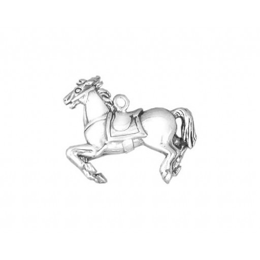 Sterling Silver Carousel Horse Charm