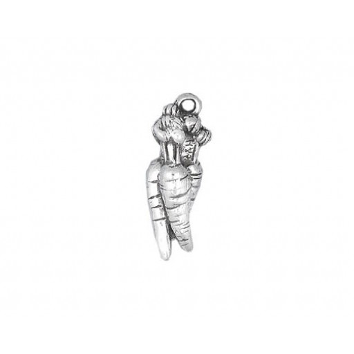 Sterling Silver Carrots Charm
