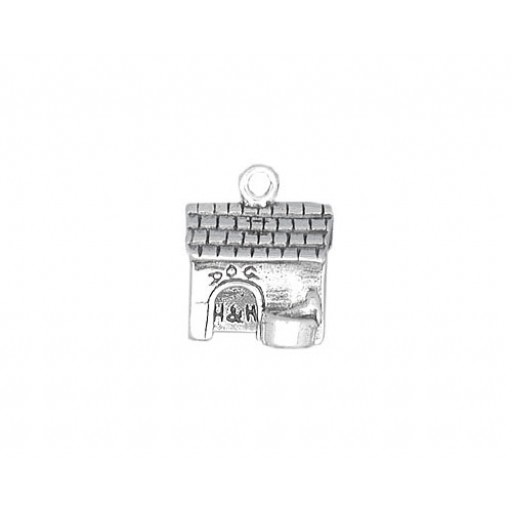 Sterling Silver Dog House Charm