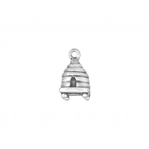Sterling Silver Beehive Charm