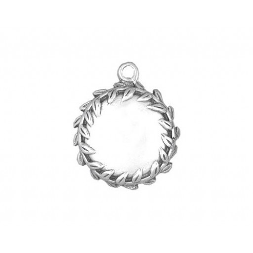 Sterling Silver Engravable Disk Charm