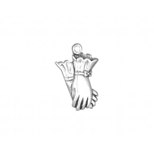 Sterling Silver Gloves Charm