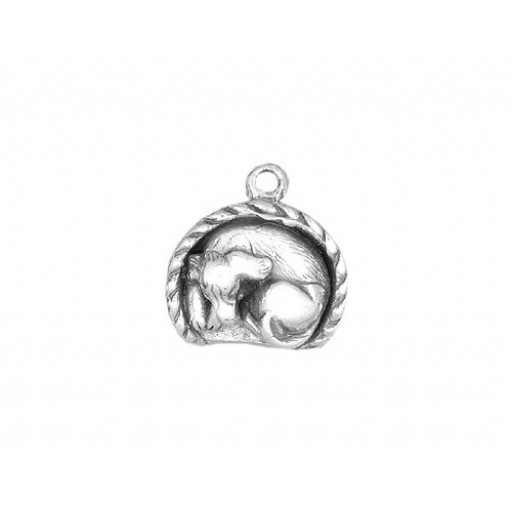 Sterling Silver Doggy Bed Charm