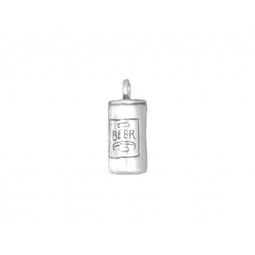 Sterling Silver Beer Can Charm