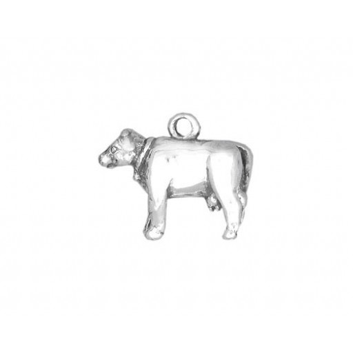 Sterling Silver Cow Charm