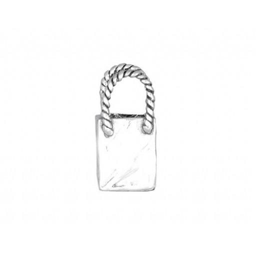 Sterling Silver Shopping Bag Charm